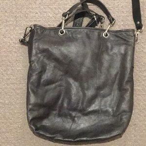 M0851 Bags - M0851 Leather City Shopper-Grey